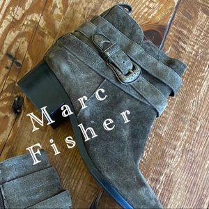 Marc Fisher Leather/Suede Western Style Booties
